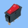 Electrical power roker switch with LED lamp ,3pin , power logo ,CQC certificate (RS06-01)