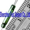 2.54x14.3mm COTO Brand Change Over 3 leads SPDT Magnetic Gold Contact Green Glass Reed Switch