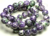 XG-L0363 Purple flower Jade Beads
