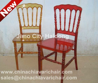 RESIN NAPOLEON CHAIR- ROSE RED COLOR