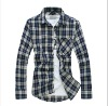 Plaids men's shirts for spring and summer season