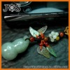 Genuine Natural Lucky Calabash Jadeite Jade Phone Strap
