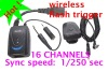 wireless flash trigger AC-16 (16 channels, Transmitter+Receiver Set)