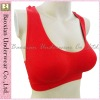 Women's sports bra with shoulder vest