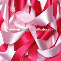 lovely luster polyester satin ribbon for wedding decoration or gift packing with low price