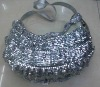 fashional round sequin handbag with AZO free or REACH