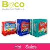 Absorbent core disposable nappies for baby