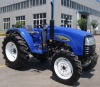Hot sale 55hp 4x4wd 554 mini farm tractors prices with snow blower,front loader
