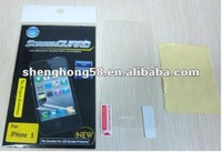 Wholesale screen protector for phone accessories, for iphone5 screen protector