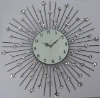 Sun-shaped Metal craft clock