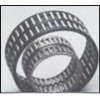 Double raw needle roller bearing with brone cage