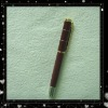 Dark Red Cross Great Metal Fountain Pens With Golden Nib