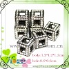 crystal rhinestone square spacer beads