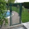 powder coated welded fence gate