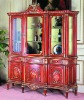 French style carved wine cabinet