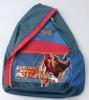 fashion single shoulder strap iron man school bag with cheap price (MWSSB-003)