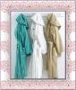 100 polyester brushed polar fleece bathrobe