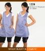 Fashion purple static free hair stylist vest for women