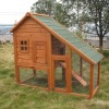 Cheap Small Outdoor Wooden Chicken Cage with Metal Floor Run