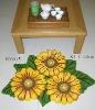polyester sunflower rug cotton carpet anti slip