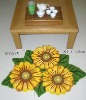 polyester sunflower rug cotton carpet anti slip