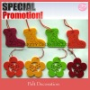 Polyester felt decoration