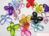 Wholesale!! Latest!! Fashion--New--Butterfly Carved Assortment Color Acrylic Pendant Beads 20x30mm