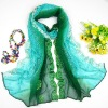 2012 fashion silk handmade embroider scarf