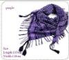 100% cotton warp knitting hand drawing scraf