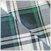 green plaid pattern 100 cotton flannel fabric for men winter pijamas