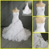 WR-028 New Arrival Ruffles Real Sample Wedding Dress