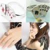 Fashion Royal Flush Playing Cards Poker Ring magic trick for magic ring wholesale