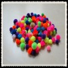 4.5cm-1.0cm pompons,100pcs/bag with assorted color,snow ball
