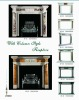 marble carving white european fireplace