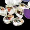 13*18 crystal rhinestone buttons flat back