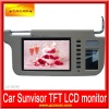 New design 7 inch sunvisor lcd monitor with TFT LCD and remote control
