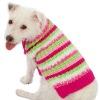 Fashion Cuter knitting Fuzzy Striped Dog Sweater