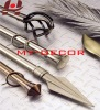 metal iron aluminium stainless steel brass plain square twisted adjustable extensible telescopic window curtain rods