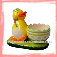 ceramic easter egg bowl with ducklings design easter crafts and gifts