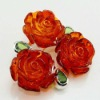 Popular Europe style flower shape Amber Brooch Pin