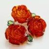 Popular Europe style flower shape Amber Brooch Pin