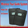 Top !64 channel UHF wireless tour guide system for traning, teaching, tour guides, conference, interpretation,training,meseum...