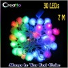 New 7M 30LEDs Snow Ball Shaped Multicolor Changing LED String Christmas Lights