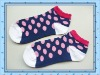 Girl's colorful cotton socks/OEM service