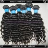 Machine made natural straight natural color 100% Indian remy human hair extension deep wave