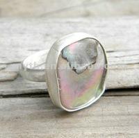 SLR018 silver shell rings