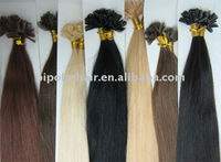 Pre-bonded hair extension nail tip