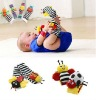 New arrival baby rattle baby toys Lamaze Garden Bug Wrist Rattle+Foot Socks 4pcs a set
