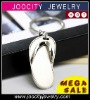 Wholesale leather keychain Slippers keychain metal JCA-KC0011