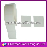 Blank writable adhesibe label